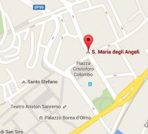 Sanremo, crolla cornicione della Chiesa degli Angeli