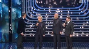 Aldo, Giovanni e Giacomo sul palco dell'Ariston
