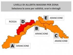 Allerta meteo Liguria, il quadro dei nuovi aggiornamenti