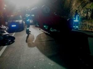 Incidente in via Cadighiara (foto Facebook)