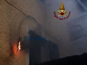 Incendio cavo elettrico a La Spezia