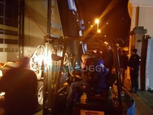 macchinari smontati di notte alla Kavo Promedi