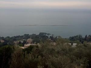 chiazze scure in mare a Genova