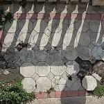 Rimosse le piastrelle della scalone della Villa Duchessa di Galliera a Voltri