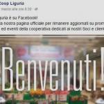 Coop Liguria su Twitter e Facebook