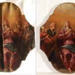 Restaurato la tavola Misteri del Rosario di Gioacchino Assereto