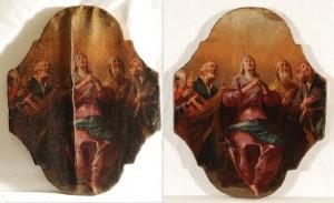 Tavola dipinta restaurata
