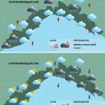 Maltempo Liguria, neve in Val Bormida e precipitazioni sino alle 15