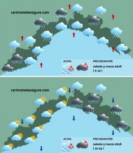 Maltempo Liguria, la situazione meteo