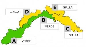 """Maltempo Liguria, allerta """"gialla"""" su parte della regione"""