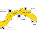 Maltempo, allerta gialla su tutta la Liguria, previste forti piogge