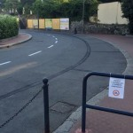 Albaro – Cancellati i parcheggi nella pista da pattinaggio della piscina
