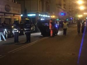 Incidente in via Monticelli a Marassi
