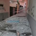 Prà – Crolla cornicione in scalinata Montesino