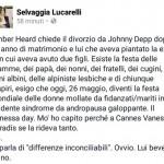 Johnny Depp verso il divorzio da Amber Heard e Selvaggia Lucarelli ironizza