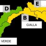 Domani allerta meteo gialla sulla Liguria dalle ore 6 alle ore 18