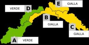 Liguria, domani allerta meteo gialla