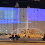 Genova – Prove di proiezione sul maxi schermo della Regione Liguria