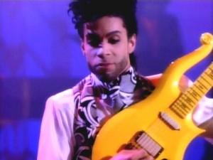 Prince e la sua chitarra Yellow Cloud