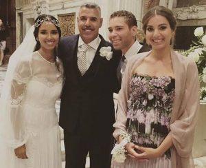Toninho Cerezo al matrimonio della figlia