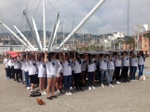 Flash mob al Porto Antico