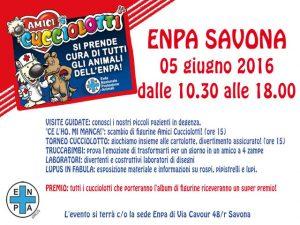 Nella foto, il volantino dell'ENPA Savona