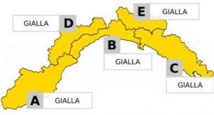 Forti temporali in arrivo, allerta gialla su tutta la Liguria