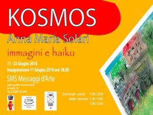 """Nella foto, la locandina della mostra """"KOSMOS"""""""