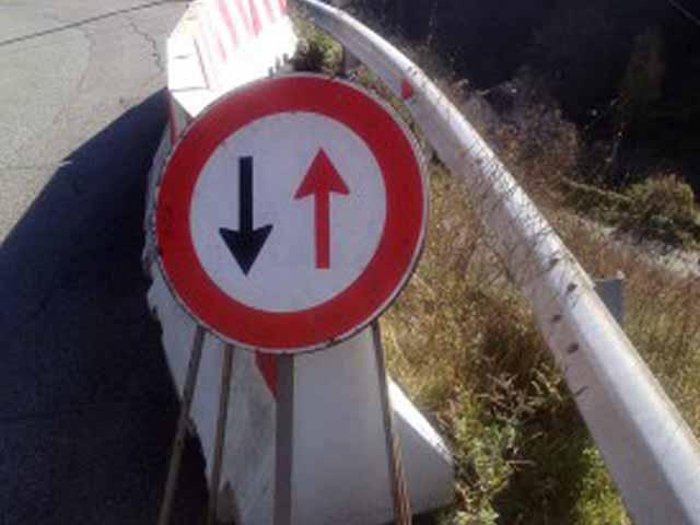 Rossiglione, senso unico alternato sulla strada provinciale 41