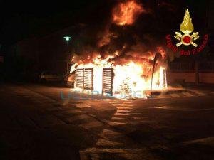 Incendio a Borgio Verezzi