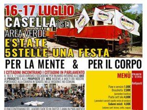 Festa a Casella per il Movimento 5 Stelle