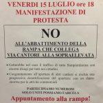 Sampierdarena in piazza per dire no all'abbattimento della rampa Sopraelevata