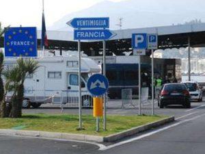 Confine Italia-Francia a Ventimiglia