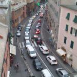 Voltri – Traffico ko anche con la frana di Arenzano