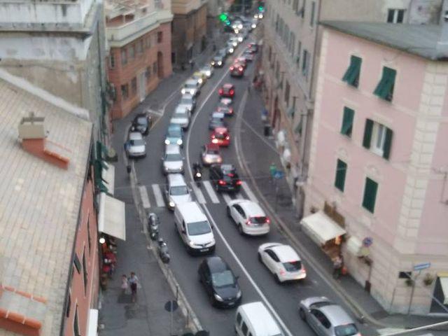 Genova, ancora chiusa via Perlasca, traffico deviato