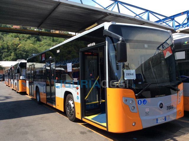 Autobus della linea 1 frena bruscamente, passeggeri feriti