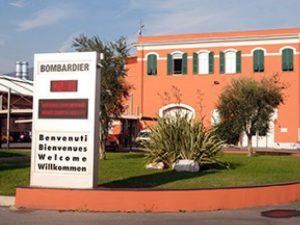 La sede della Bombardier a Savona