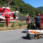 Incidente stradale a Bargagli, ferito un motociclista