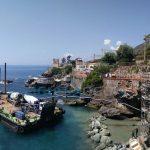 Nervi – Chiatta in mare per i lavori alla Passeggiata Anita Garibaldi