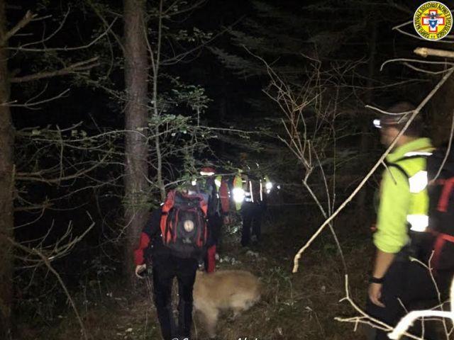 Vigili del Fuoco soccorrono escursionisti dispersi al Brugneto