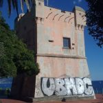 Nervi – Torre Gropallo deturpata dai graffiti dei Writers