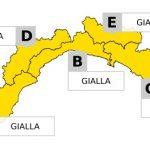 Allerta Gialla in Liguria – Previsti temporali