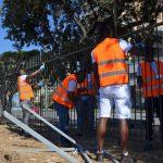 Piazzale Kennedy, 13 migranti lavorano alla manutenzione dei piazzali