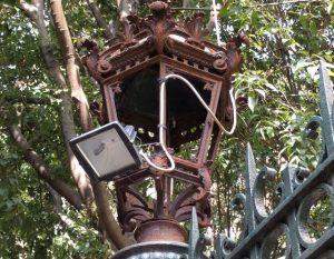 lampione di Villa Croce