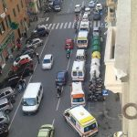 Marassi – Ambulanze in corteo per protesta contro chiusura Pubblica Assistenza