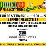 Referendum – M5S Liguria lancia la marcia per la Costituzione #iodicono