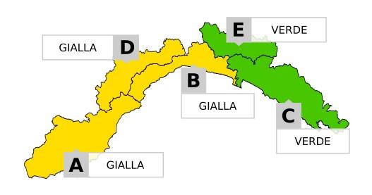Allerta gialla per temporali tra domenica e lunedì in Liguria