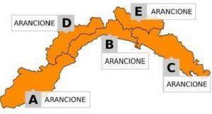 allerta arancione in Liguria