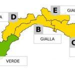Allerta Meteo Gialla sino alle 18 in Liguria, in arrivo temporali