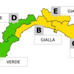 Liguria, allerta gialla sul Centro-Levante da mezzanotte alle ore 18 di domani